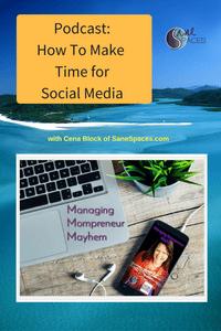 How To Make Time for Social Media|Podcast|SaneSpaces.com