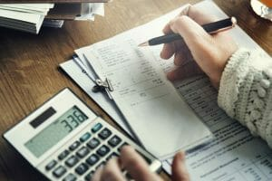 Calculation Financial Budget Count Tax Vat Wage Concept