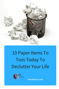 Throw these 10 items away to declutter your life today!