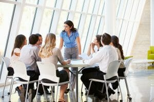 business people having meeting or conference