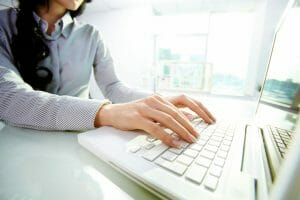 Typing at office, boost website traffic