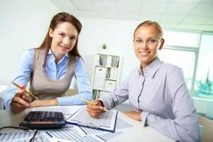 female colleagues accounting in office.business accountant.