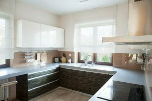 Well-organized kitchen interior in traditional style